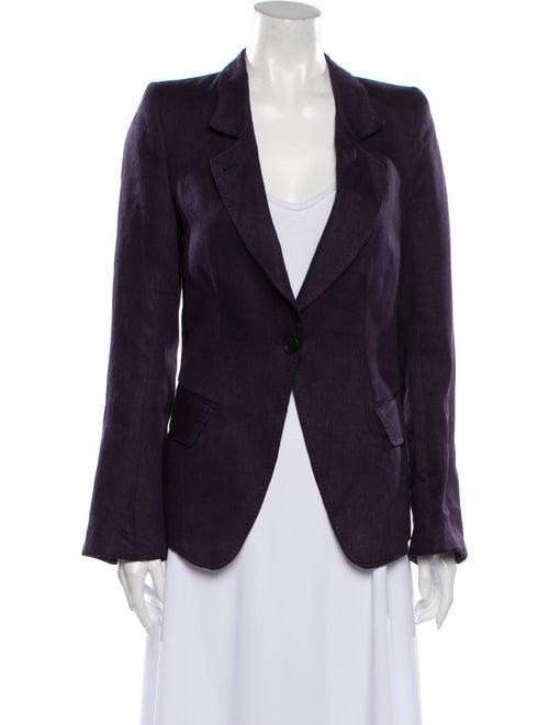 Ann Demeulemeester Linen Blazer Purple