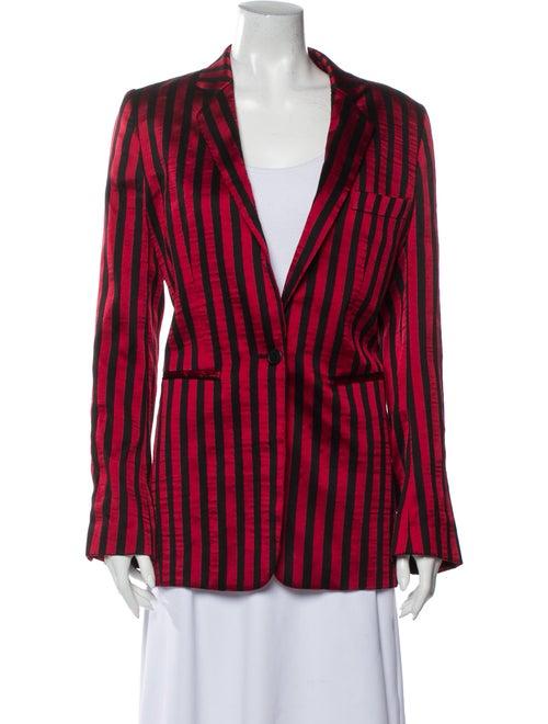 Ann Demeulemeester Striped Blazer Red