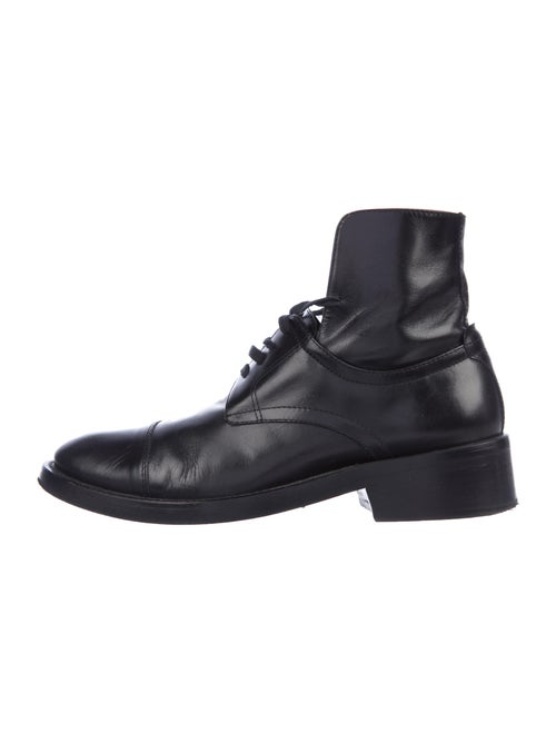 Ann Demeulemeester Leather Combat Boots Black
