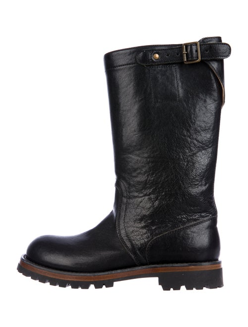 Ann Demeulemeester Leather Moto Boots Black