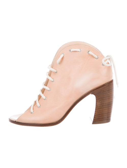Ann Demeulemeester Leather Lace-Up Boots Pink