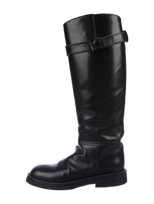Ann Demeulemeester Leather Riding Boots Black