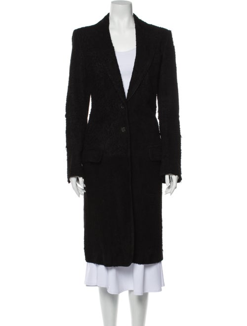 Ann Demeulemeester Vintage Leather Coat Black