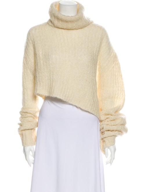 Ann Demeulemeester Turtleneck Sweater White
