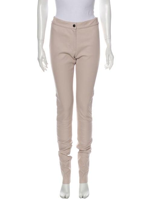 Ann Demeulemeester Leather Skinny Leg Pants Pink