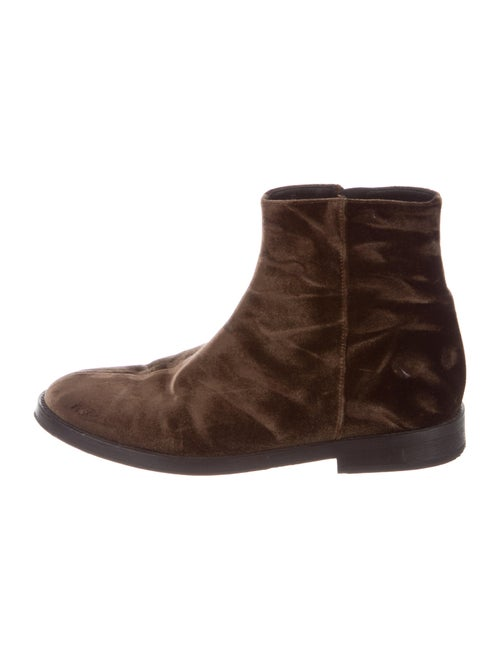 Ann Demeulemeester Combat Boots Brown