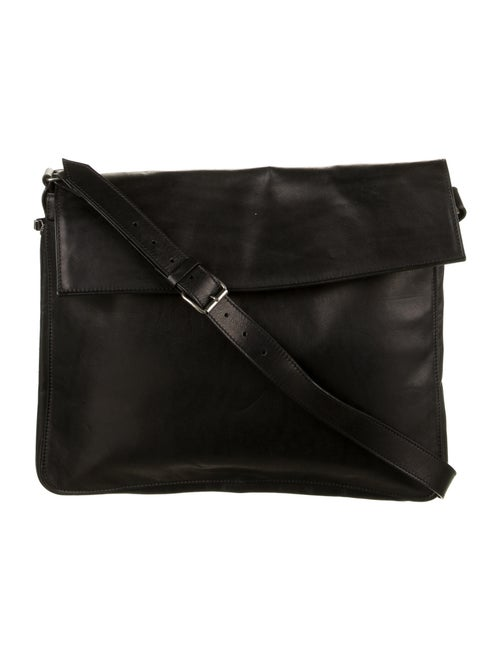 Ann Demeulemeester Leather Laptop Bag Black