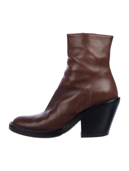 Ann Demeulemeester Leather Boots Brown