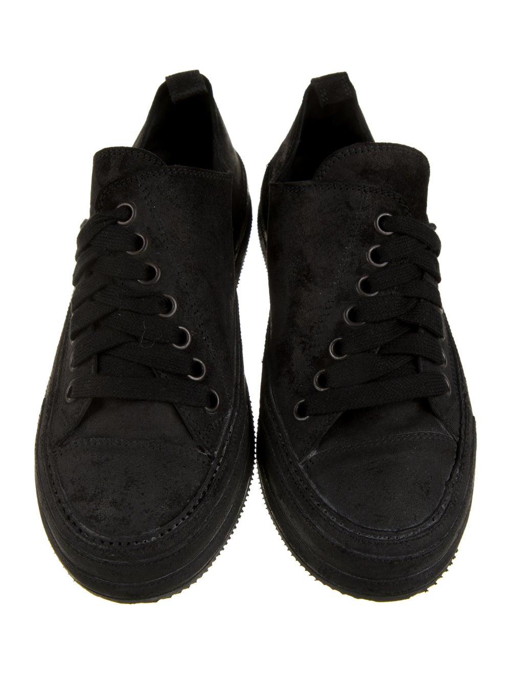 Ann Demeulemeester Suede Sneakers Black - image 3