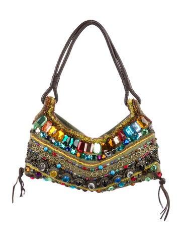 Antik Batik Embellished Woven Shoulder Bag None