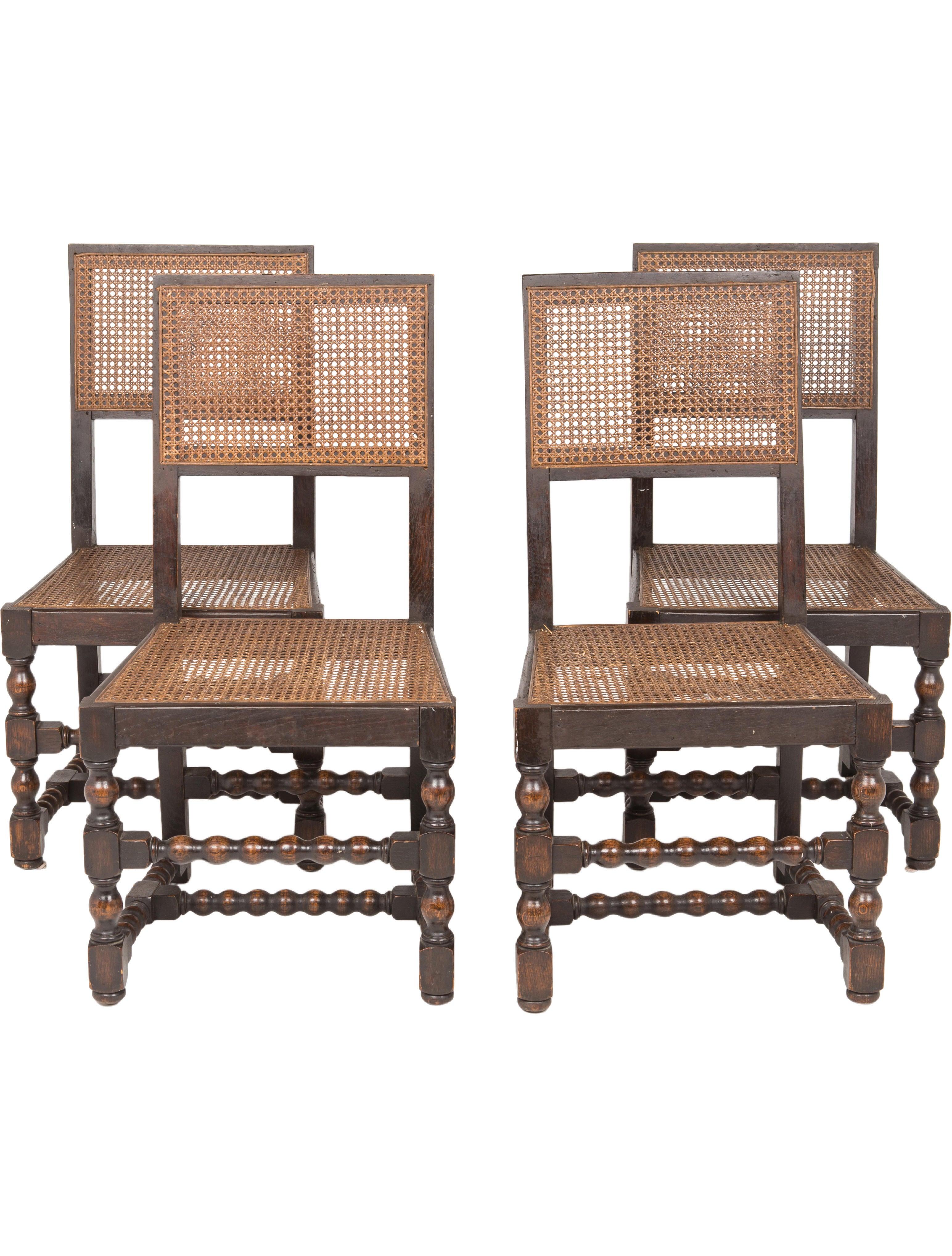 Merveilleux Set Of 4 Spanish Chairs