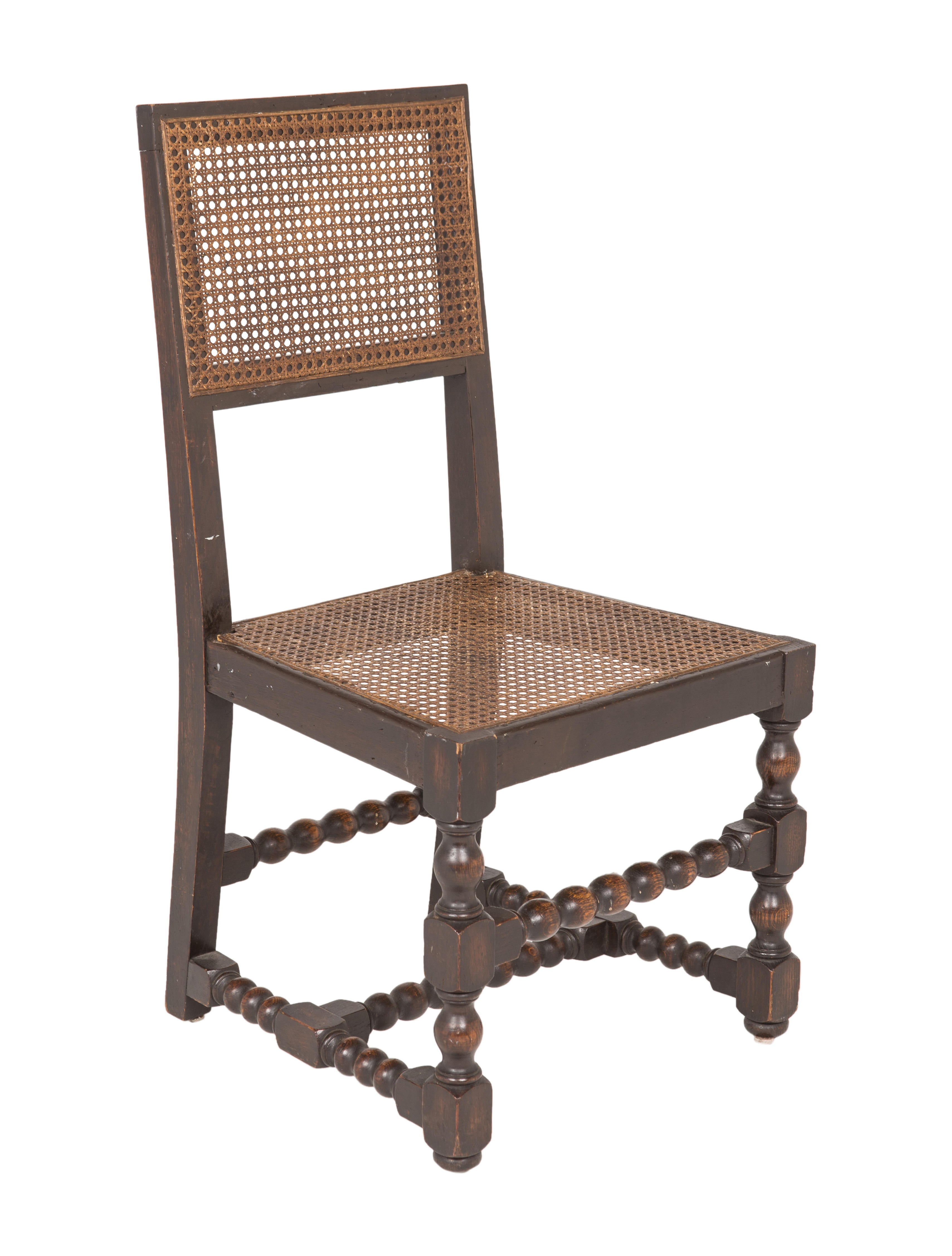 Set Of 4 Spanish Chairs