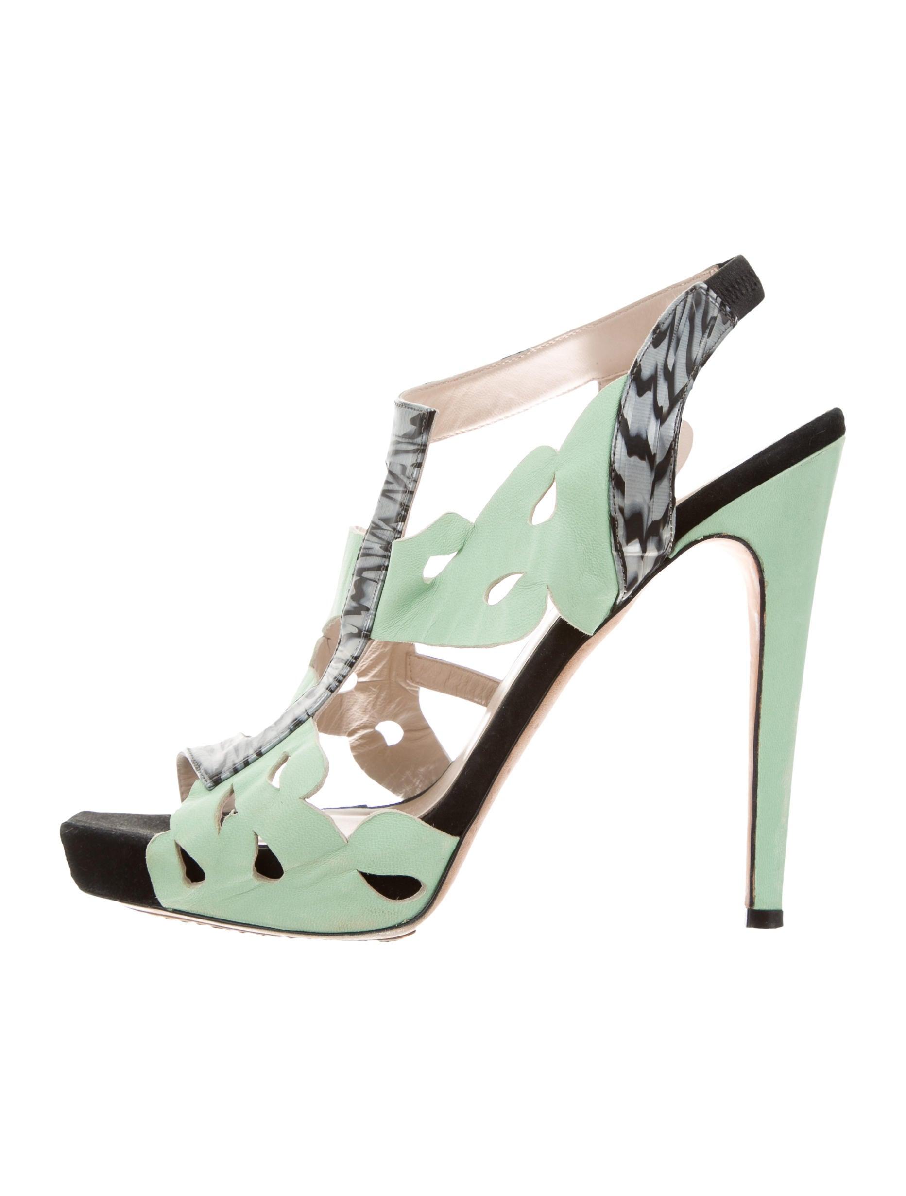 purchase online Aperlai Laser Cut Platform Sandals get authentic 0va3vDy5E