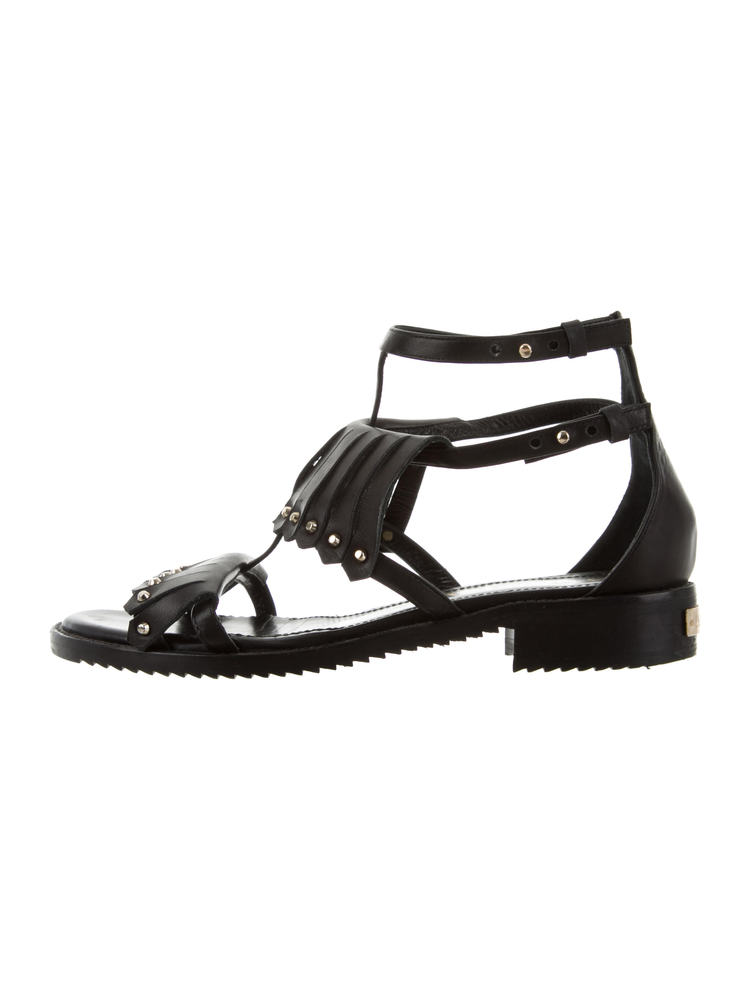 Aperlai Leather Studded Sandals for nice for sale high quality cheap price original footlocker pictures sale online great deals sale online wFcL8eJM