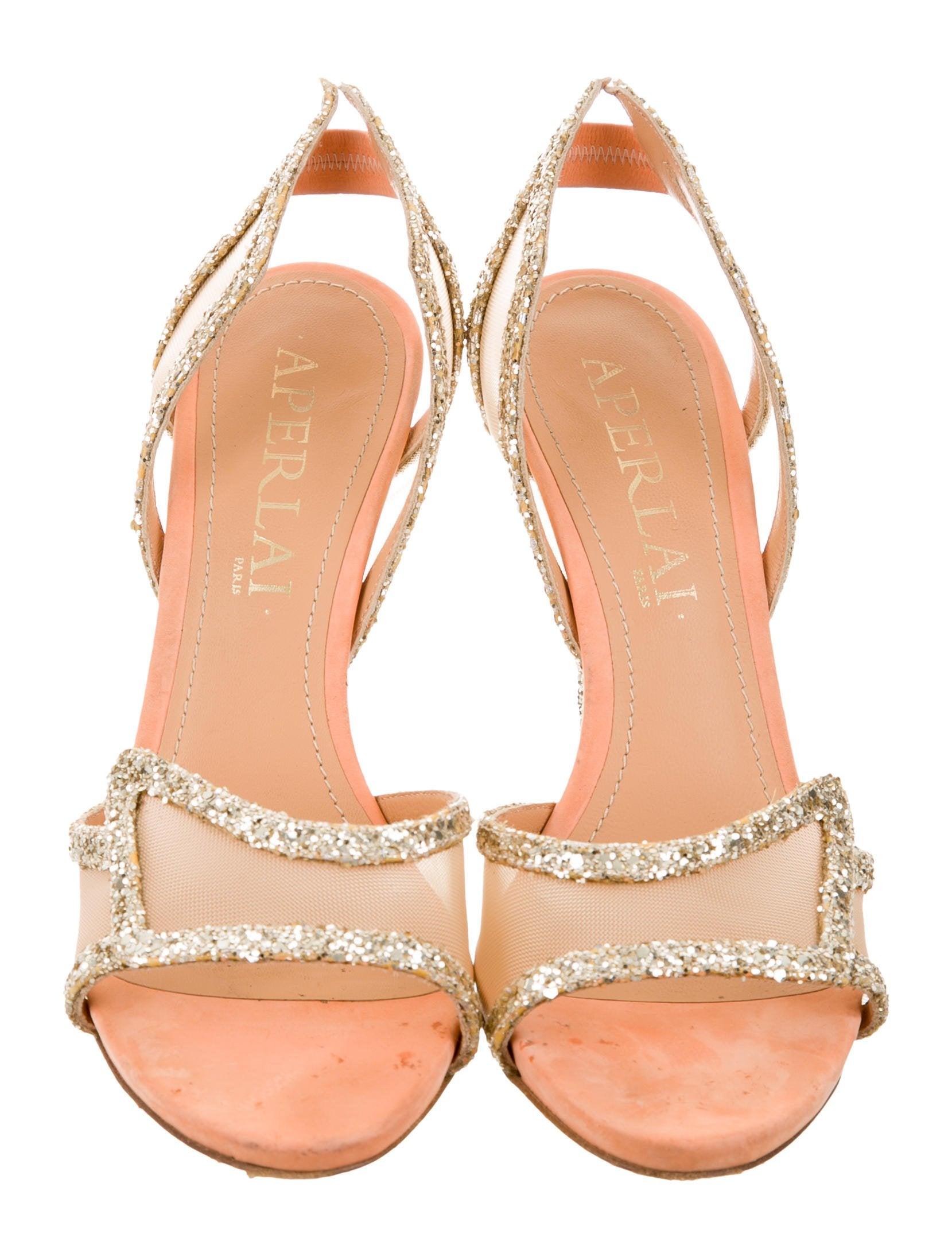 Aperlai Glitter Multistrap Sandals 100% original sale pictures YVp4bDlY0g