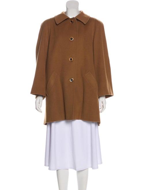 Aquascutum Wool Short Coat Brown