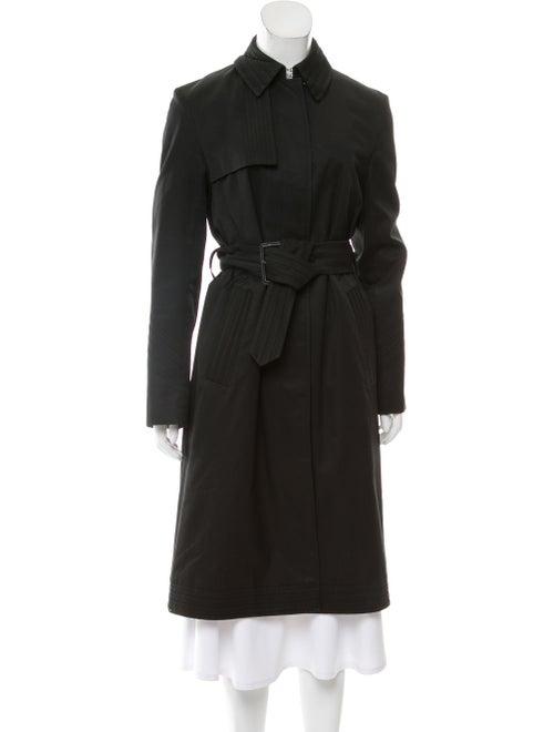 Aquascutum Belted Long Coat Black