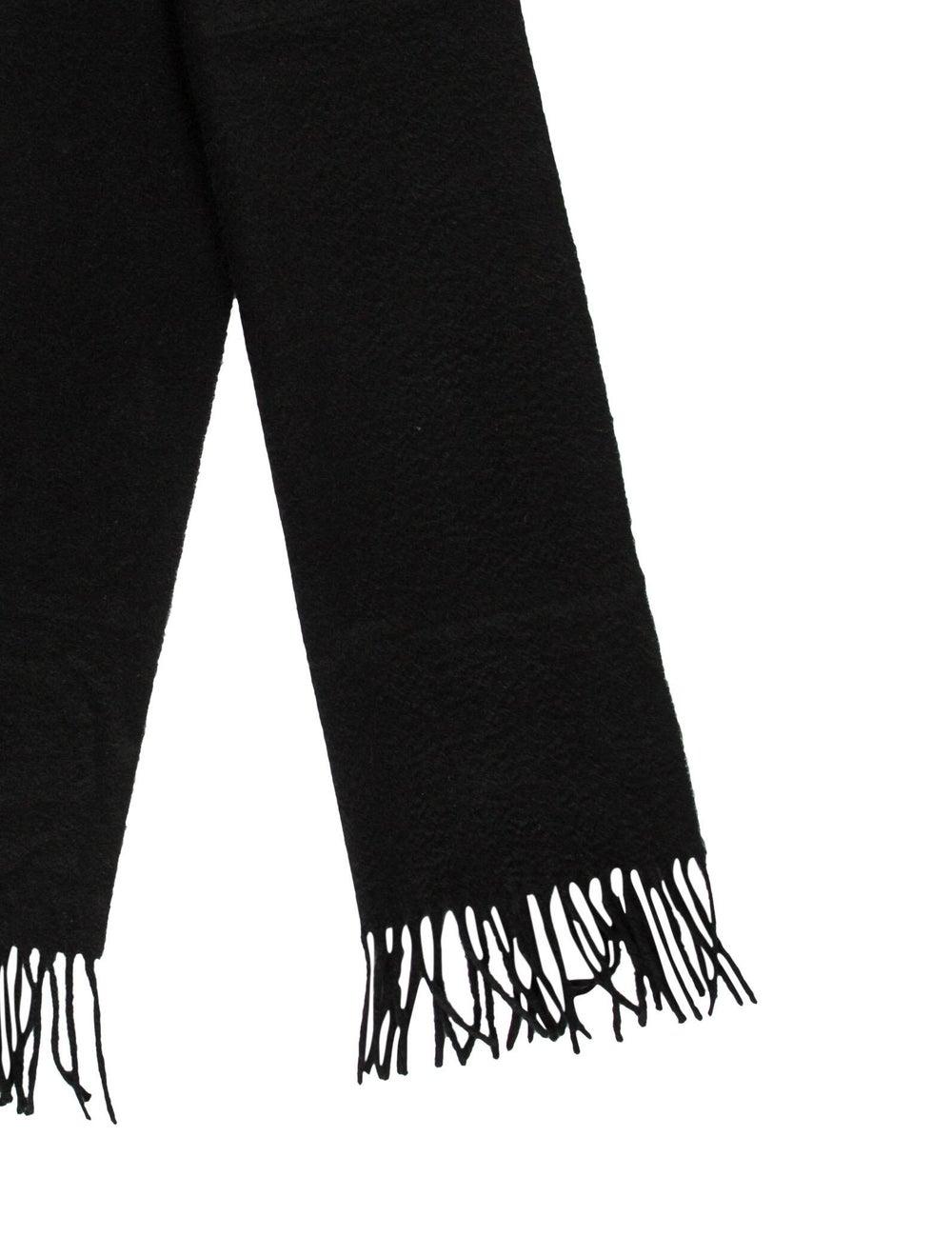 Aquascutum Cashmere Knit Scarf black - image 2