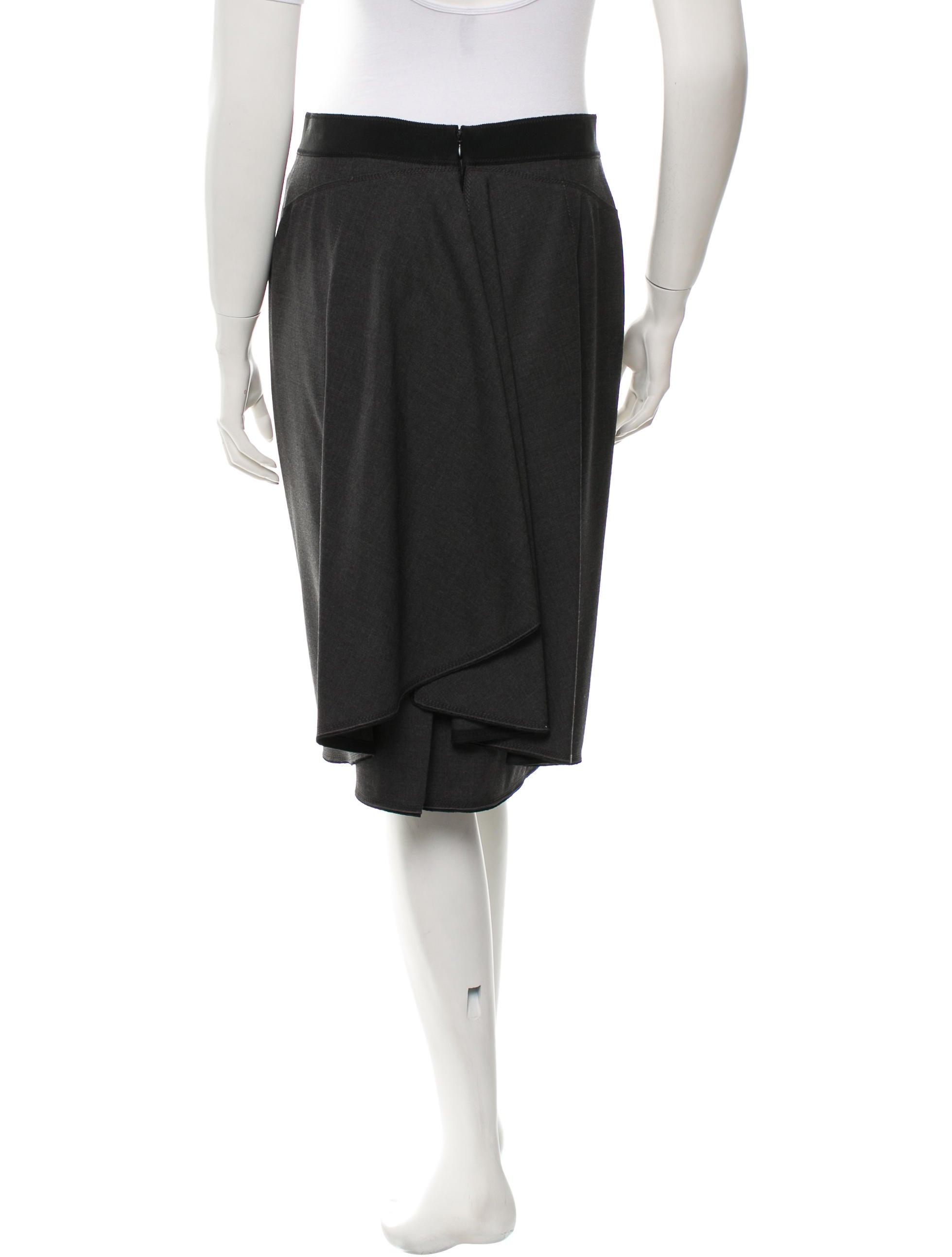 aquilano rimondi wool midi skirt clothing aqu20196