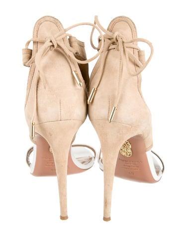 Suede Cutout Sandals