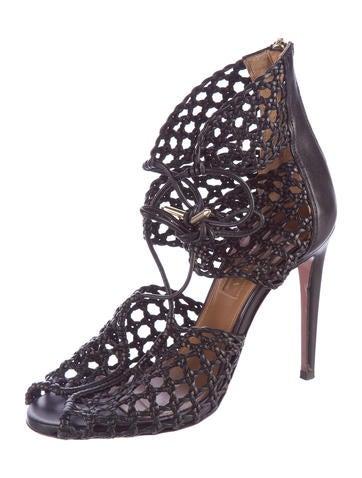 Crochet Leather Sandals