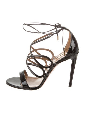 Patent Leather Multi-Strap Sandals