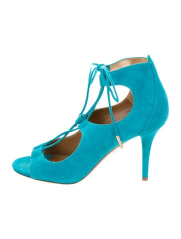 Aquazzura Christy 85 Lace-Up Sandals w/ Tags