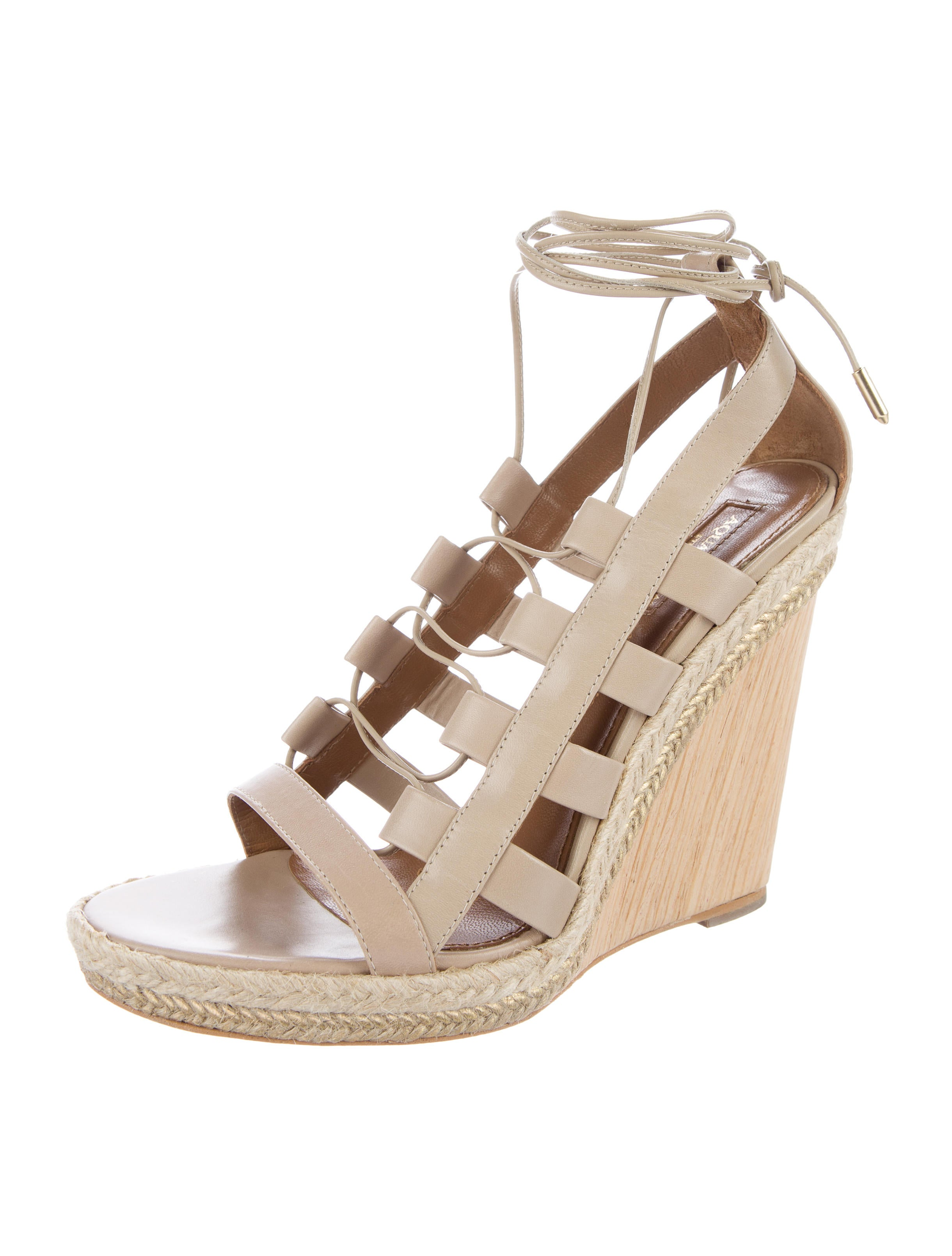 Aquazzura Amazon Wedge Sandals - Shoes - AQZ21586 | The ...