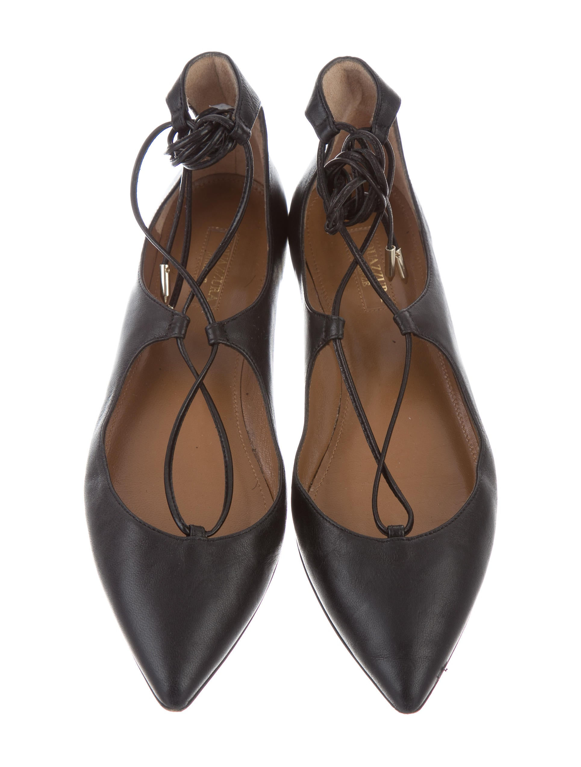 aquazzura lace up flats shoes aqz22407 the
