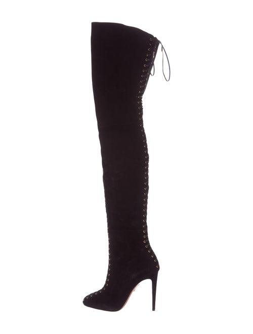 52e2123e663 Aquazzura Corset Cuissard Thigh-High Boots - Shoes - AQZ22594 | The ...