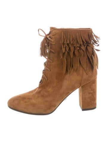 under 50 dollars cheap best sale Aquazzura Fringe-Trimmed Ankle Boots fashionable cheap price buy cheap shop for 81g1aKQ