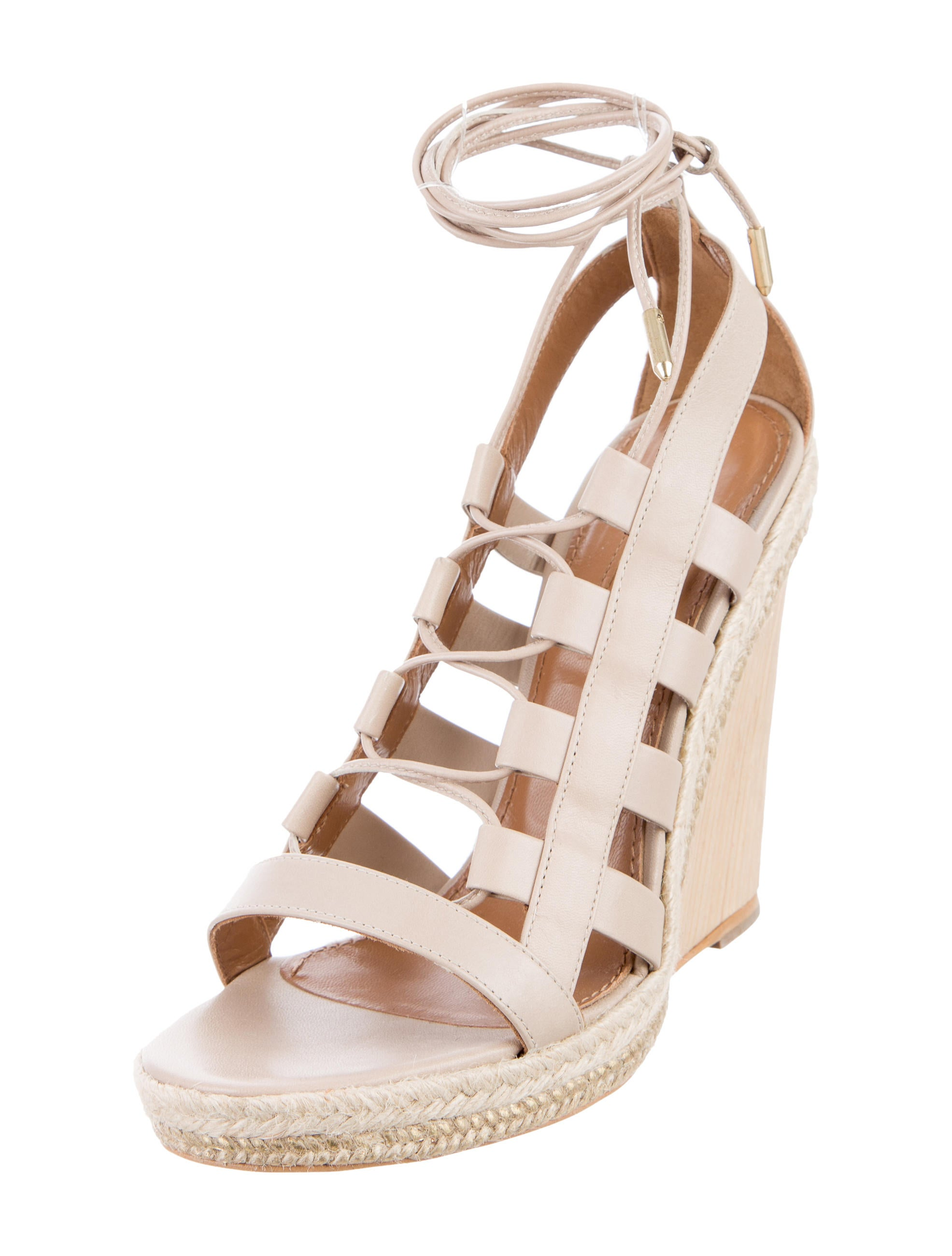 Aquazzura Amazon Wedge Sandals - Shoes - AQZ23060 | The ...