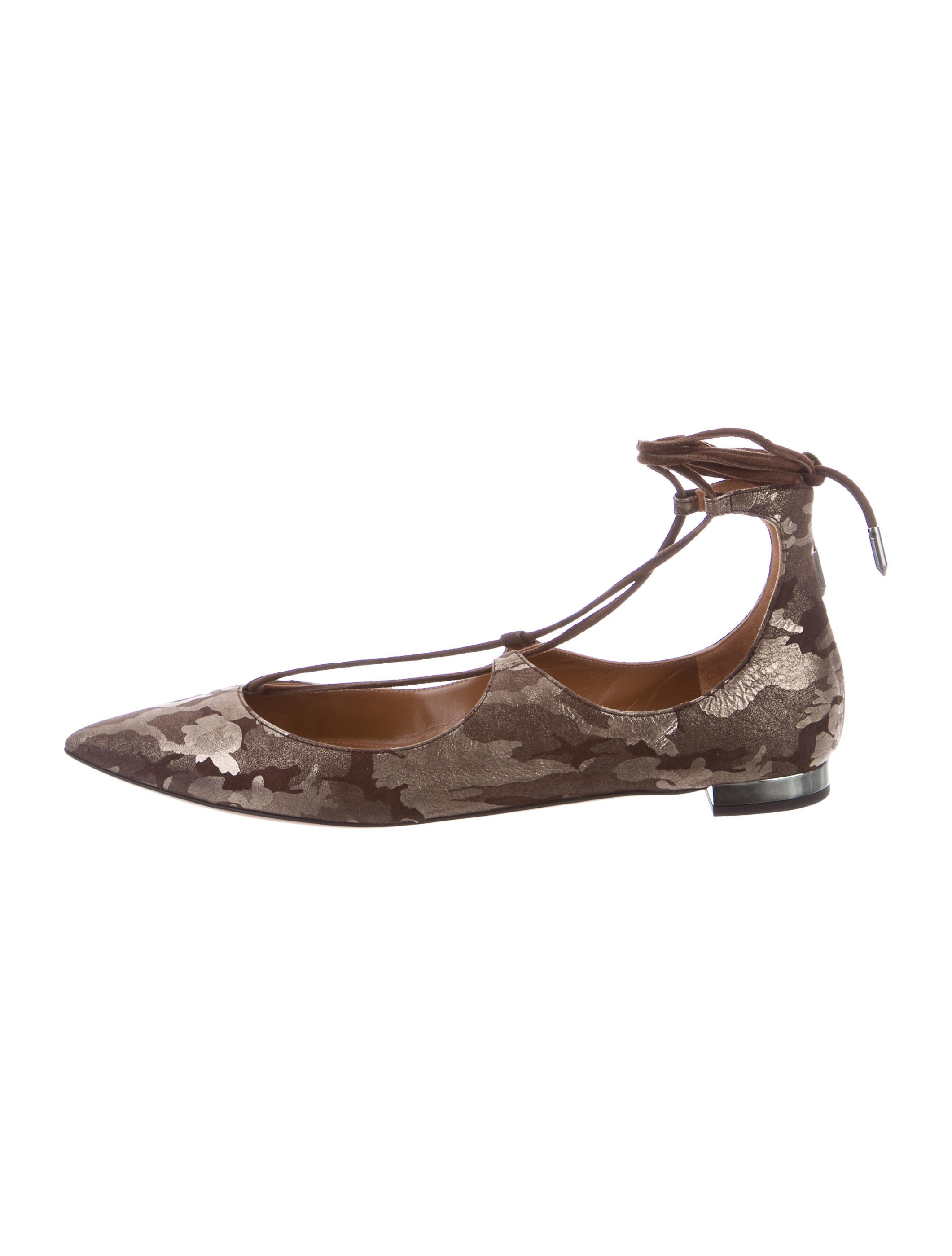 Aquazzura Christy Lace-Up Flats w/ Tags buy cheap ebay 100% authentic online outlet discount clearance how much QfZ14C