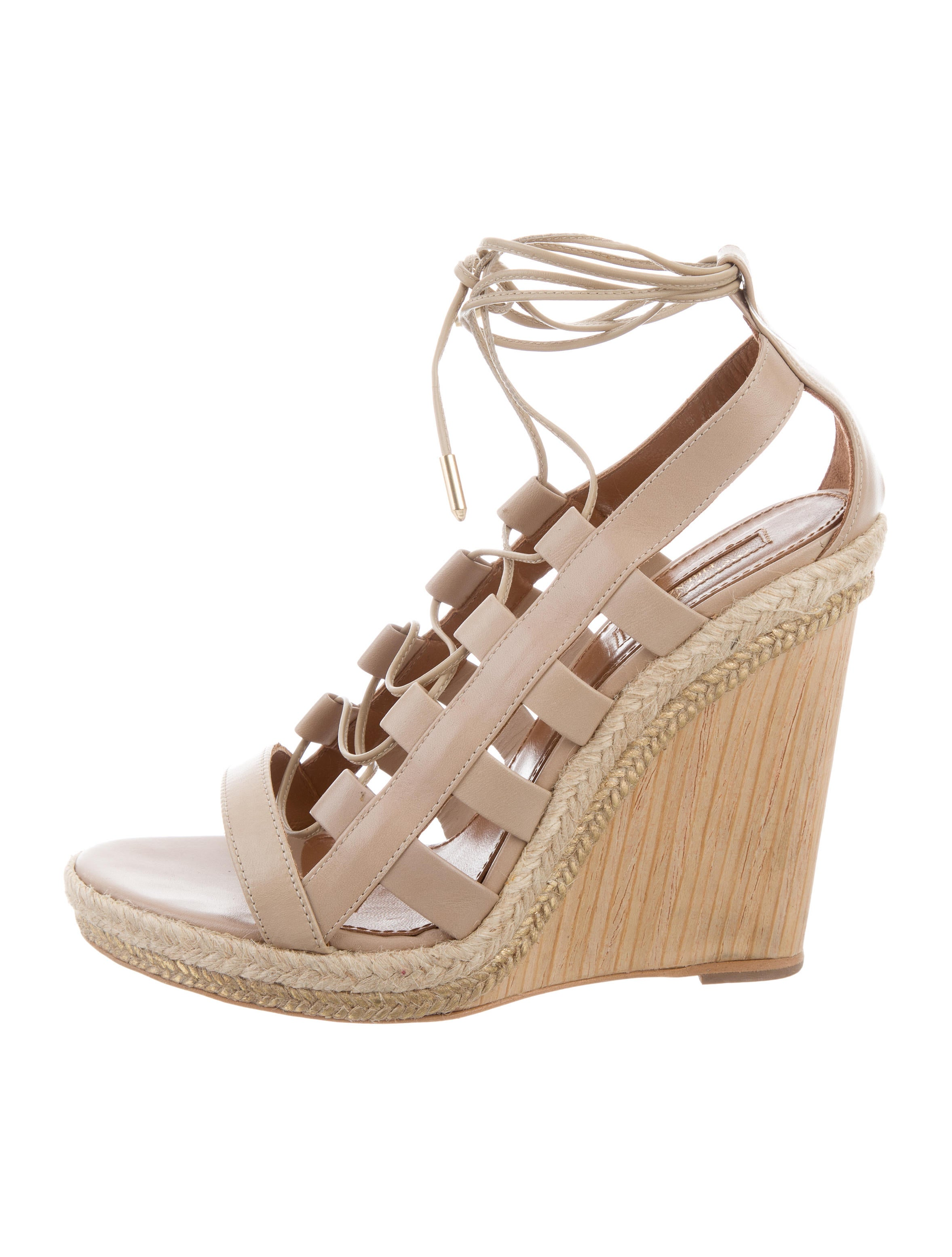 Aquazzura Amazon Wedge Sandals - Shoes - AQZ24165 | The ...