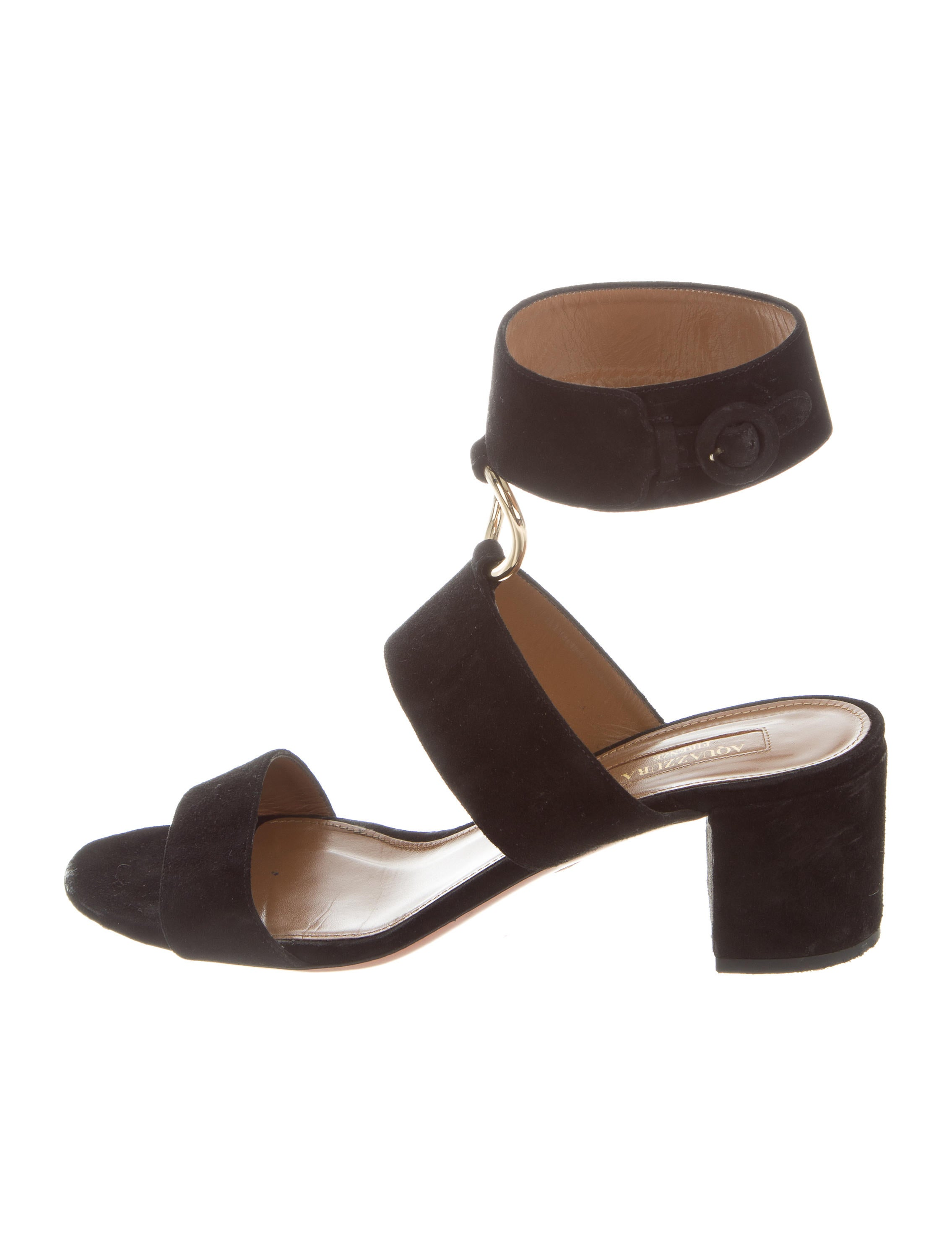 cheap sale great deals Aquazzura Suede Multistrap Sandals cheap real finishline sale discounts 5gjisPWA