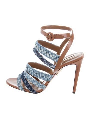 Aquazzura 2017 Tyra Denim Sandals clearance wide range of Go0lSTqzL
