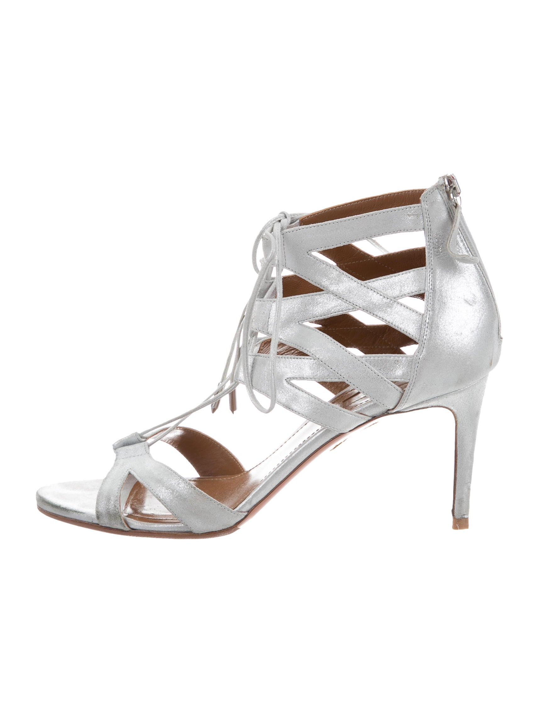 abcc8d24747e Aquazzura Beverly Hills 75 Cage Sandals - Shoes - AQZ25057