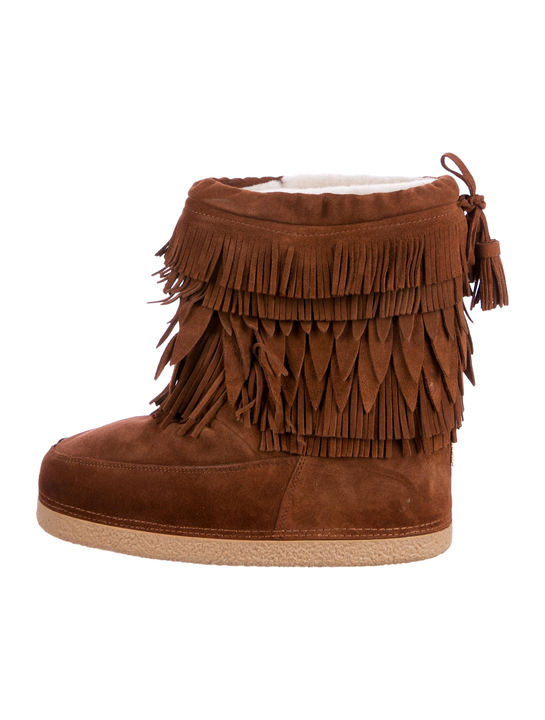 cheap limited edition really cheap Aquazzura Fur & Fringe-Trimmed Booties clearance 2015 clearance fashionable K6lN3