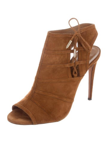 Aquazzura Oui Baby 105 Booties outlet high quality sale outlet EXljDfYF