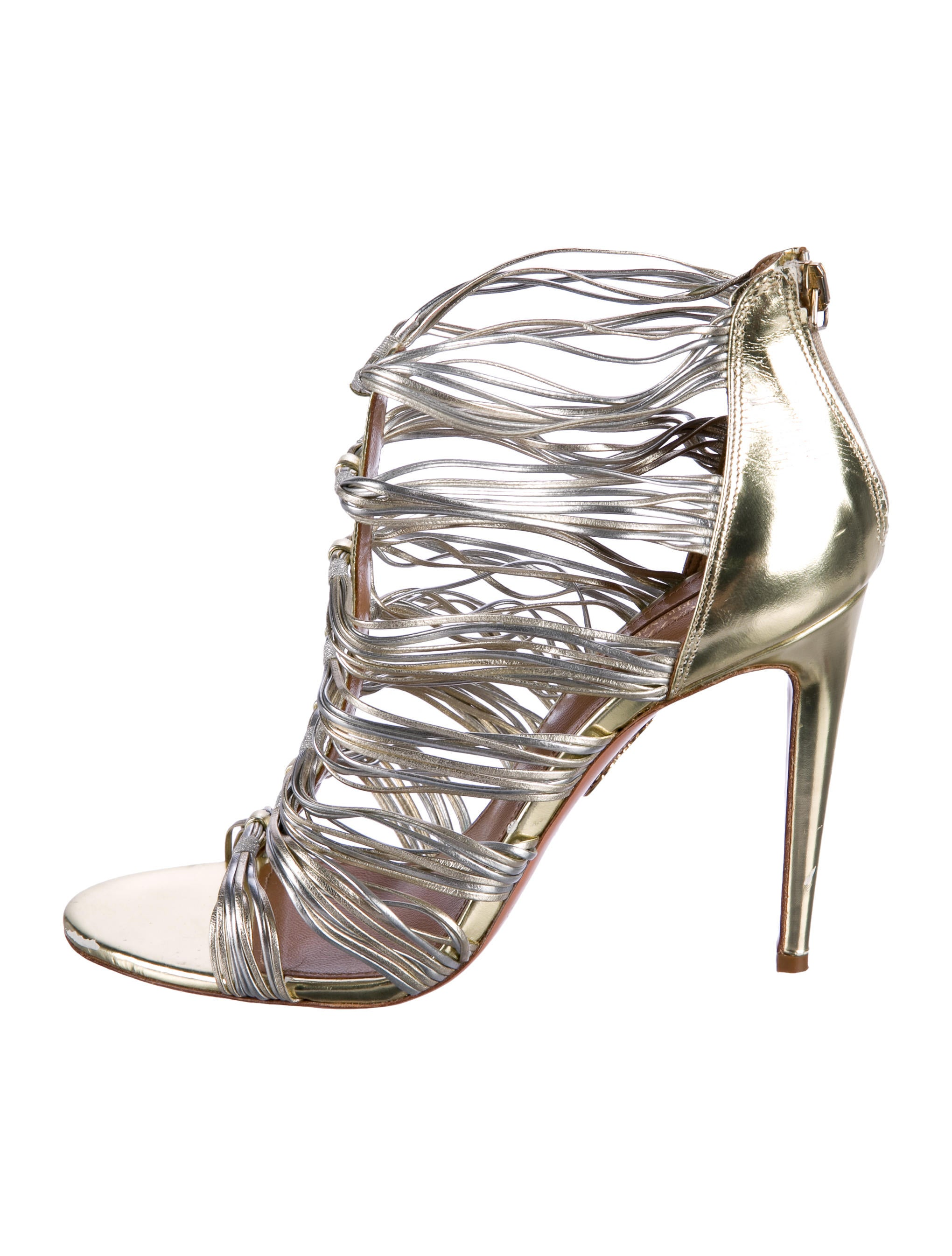 Aquazzura Xena Cage Sandals outlet clearance store SVSkNHg