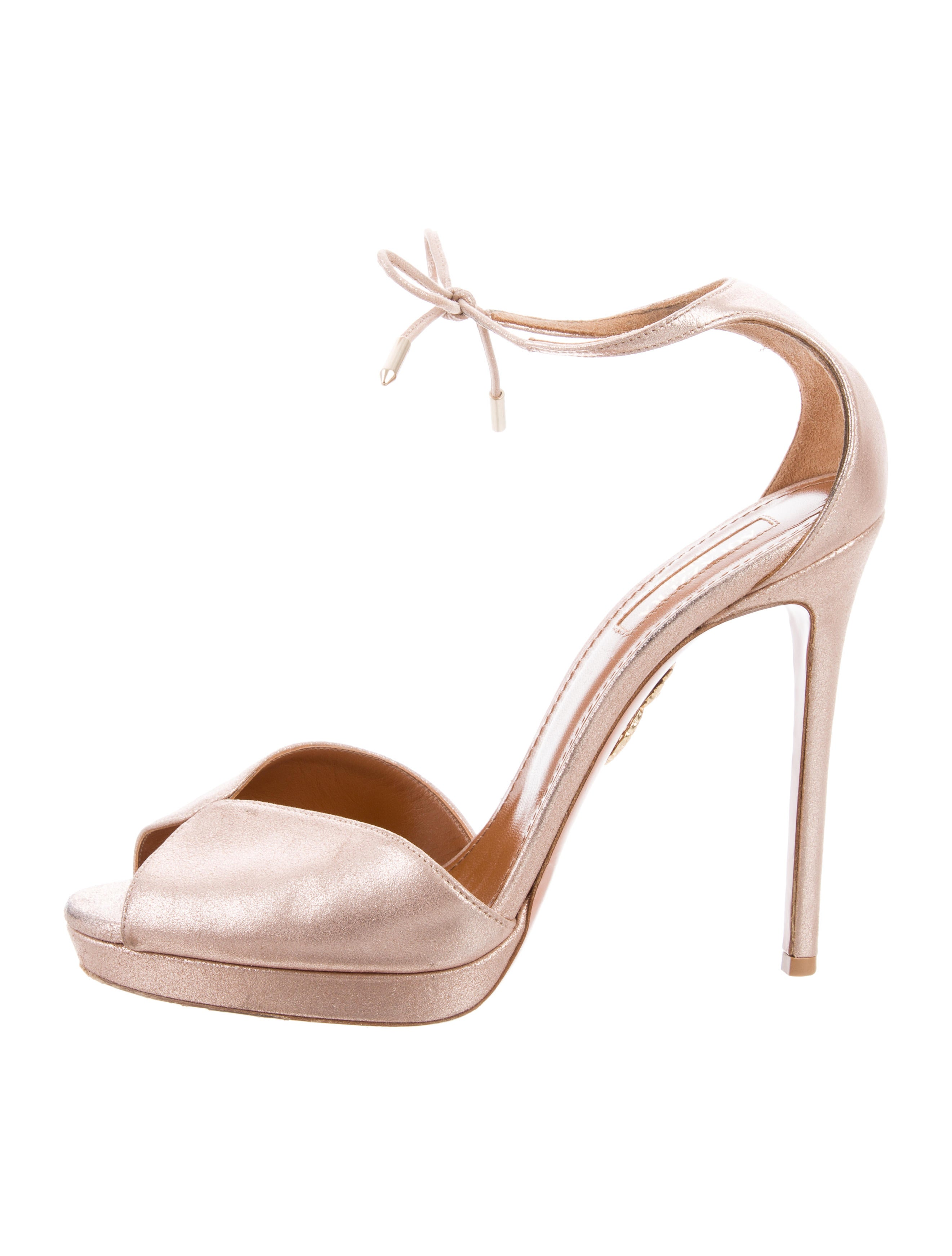 clearance great deals Aquazzura Metallic Peep-Toe Pumps free shipping best store to get sale in China buy cheap popular low cost cheap online YJpmikb5