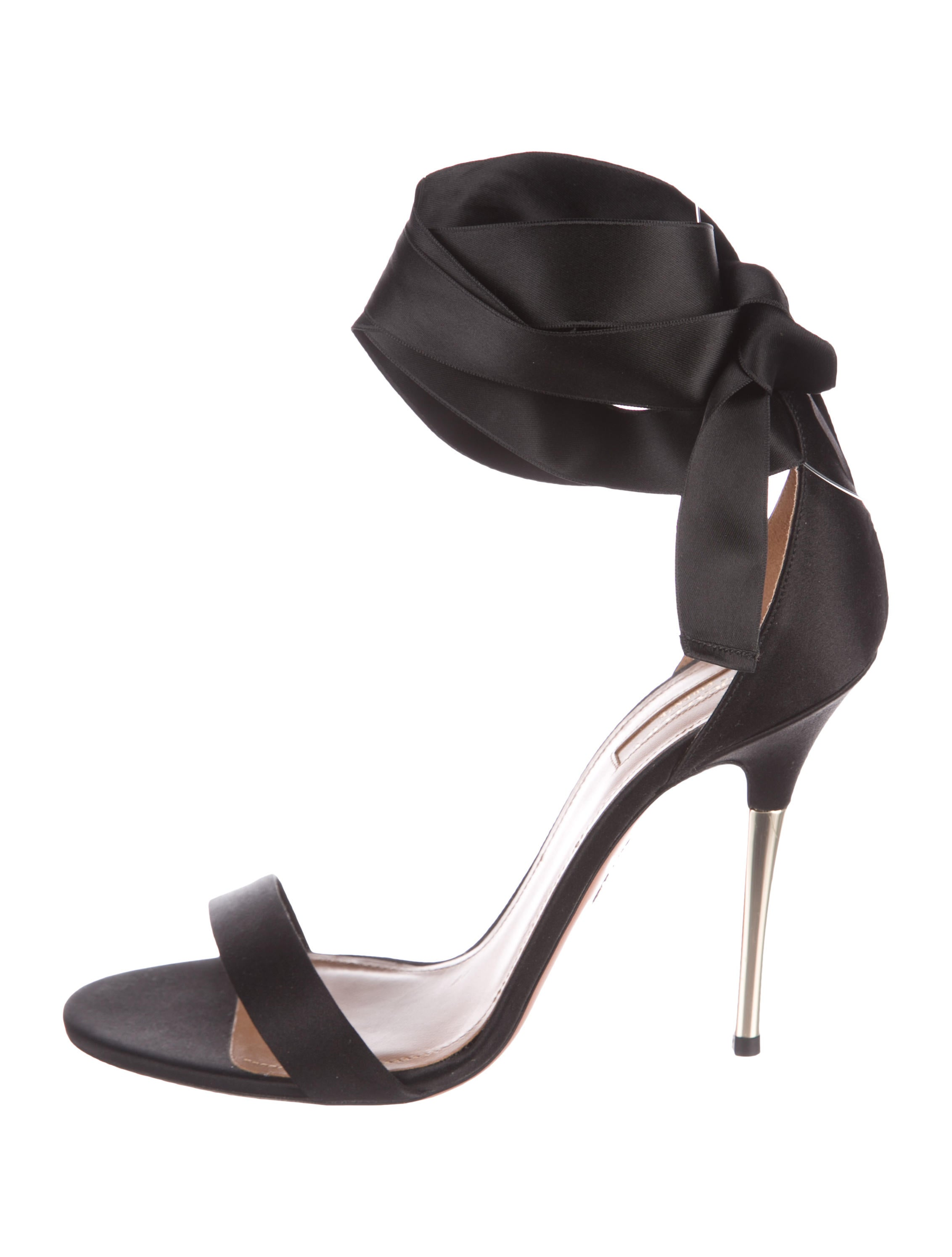Aquazzura Satin Ribbon-Accented Sandals cheap USA stockist free shipping best wholesale cheap sale largest supplier dySzMc44VN