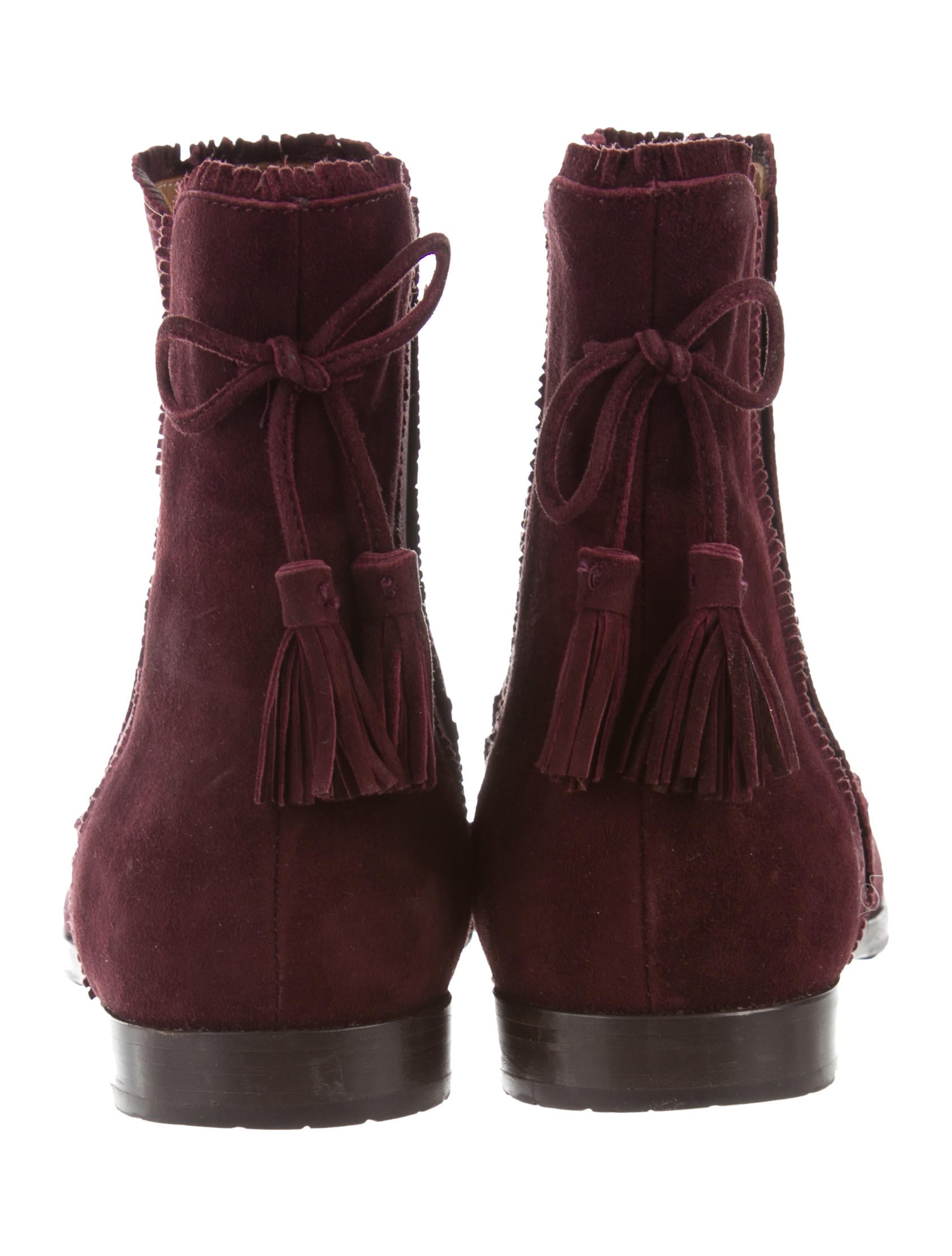 Aquazzura Suede Beatle Boots outlet free shipping classic cheap sale shop for YhvuD2n