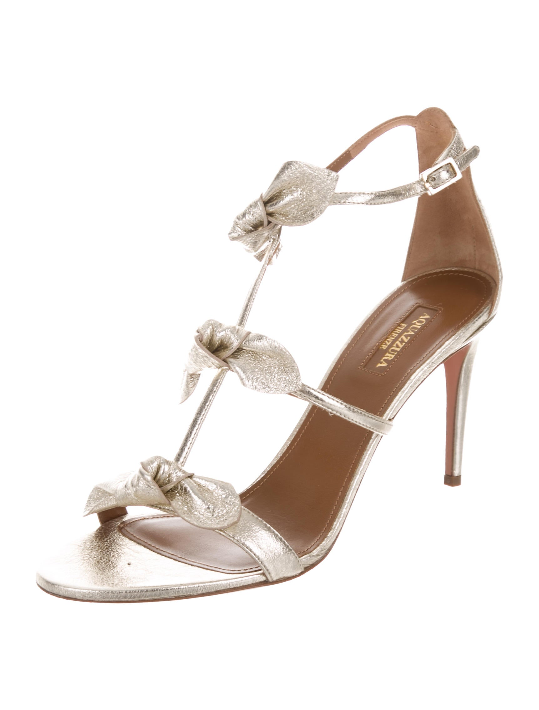 Aquazzura St. Tropez Metallic Sandals w/ Tags discount fashionable bA2yVT