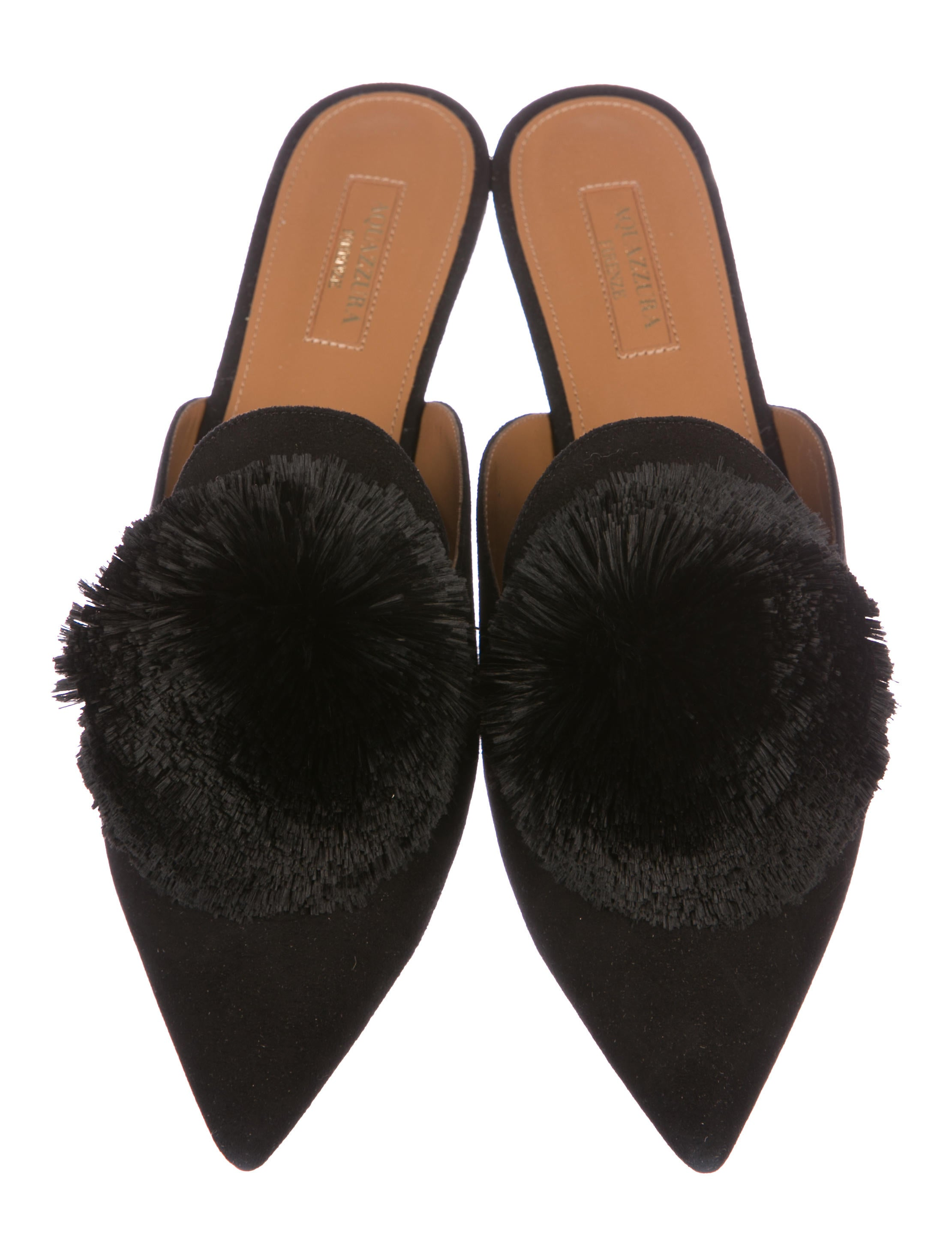 sale best store to get Aquazzura Powder Puff Mules w/ Tags buy cheap manchester great sale under 70 dollars brand new unisex online AZyyC2