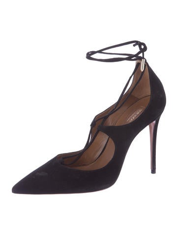 Christy Suede Pointed-Toe Pumps