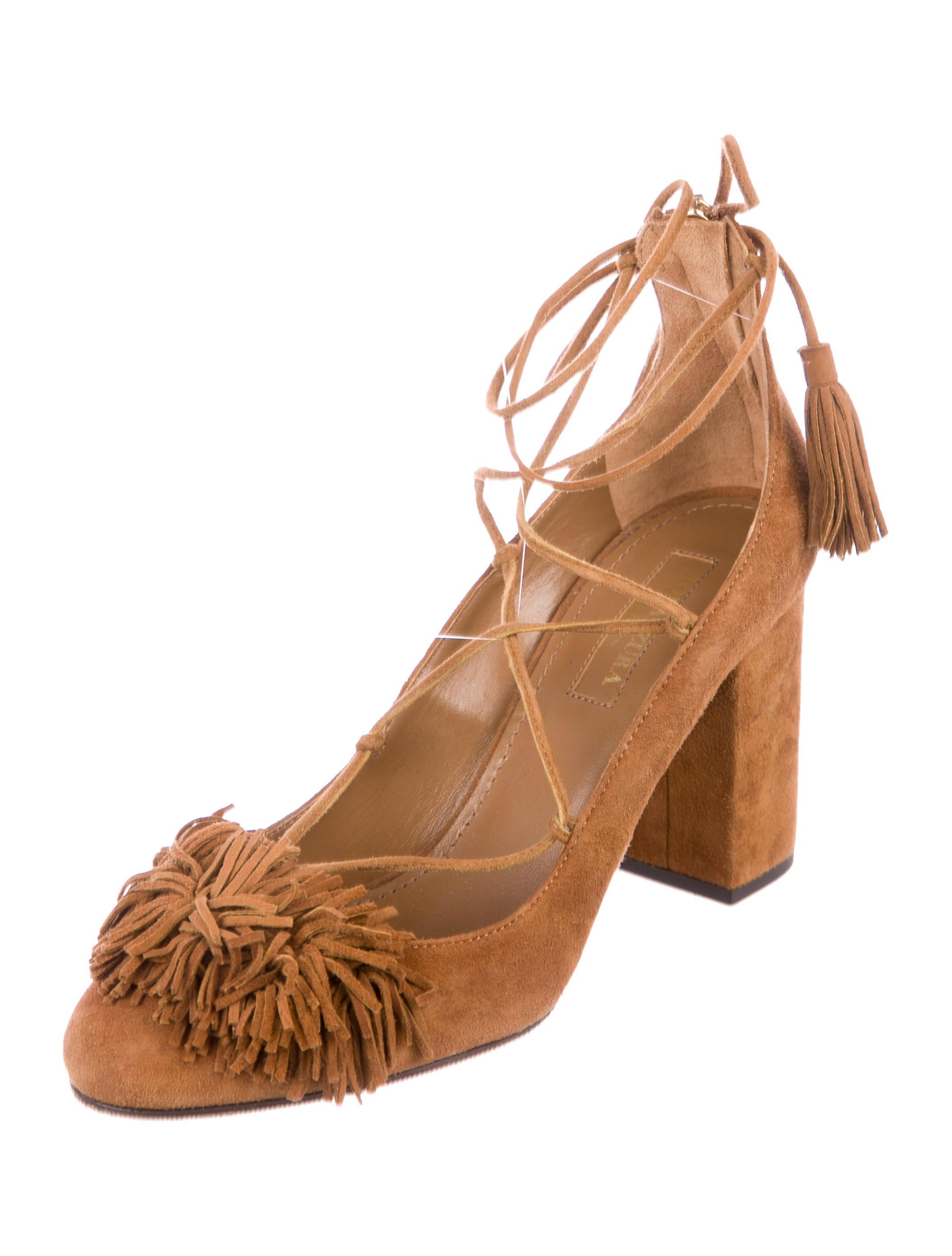 Aquazzura Wild Suede Pumps reliable fashion Style choice sale online buy cheap websites yrwTP3