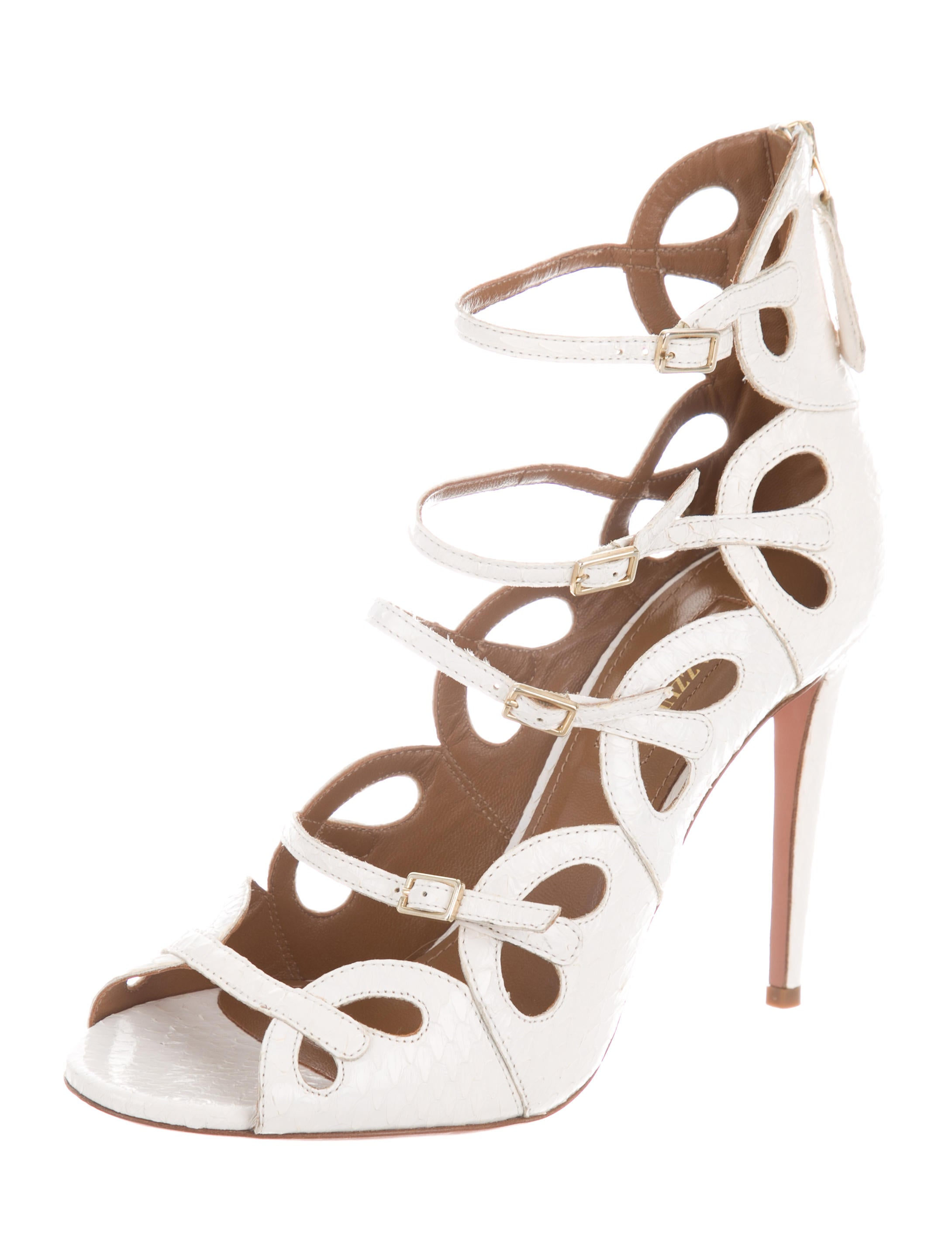 Aquazzura Python Caged Pumps many kinds of sale online cheap discount sale outlet Inexpensive free shipping outlet outlet latest collections BtqrS37