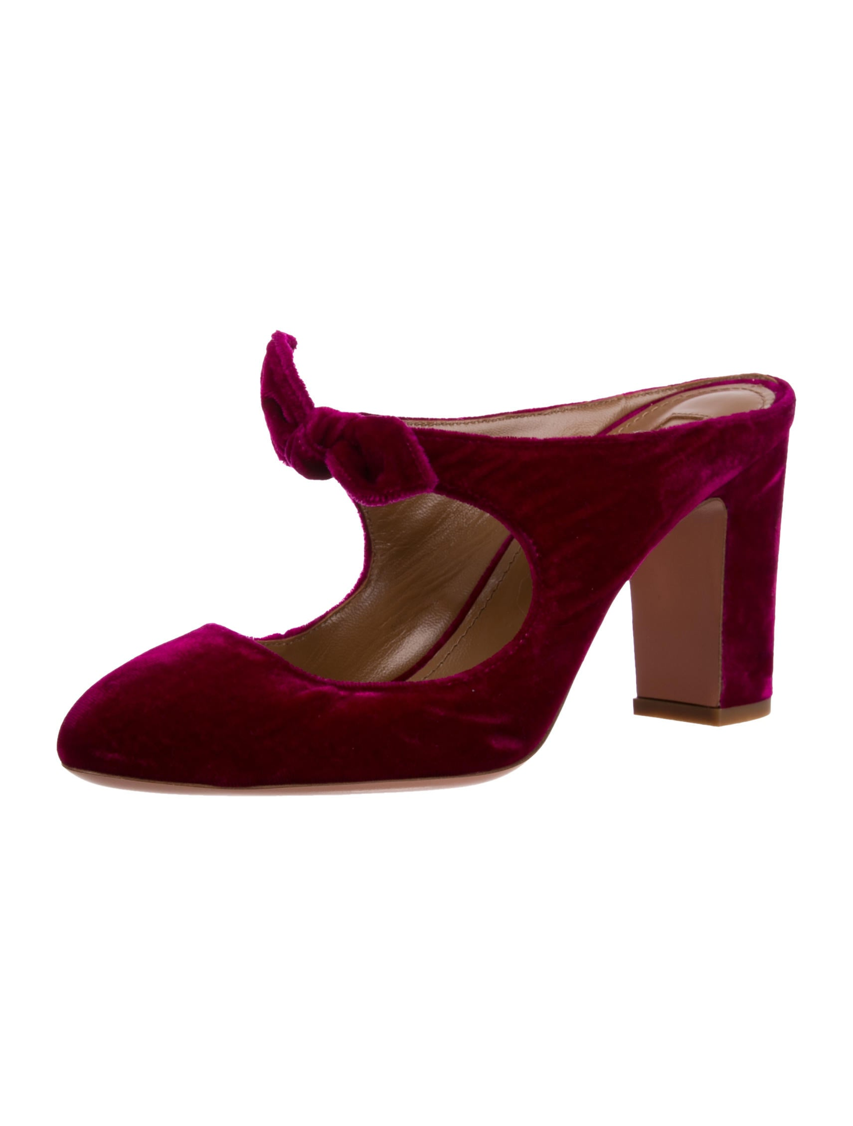 Aquazzura Velvet Bow Mules low shipping fee sale online free shipping huge surprise free shipping perfect finishline online footaction sale online cJLRm