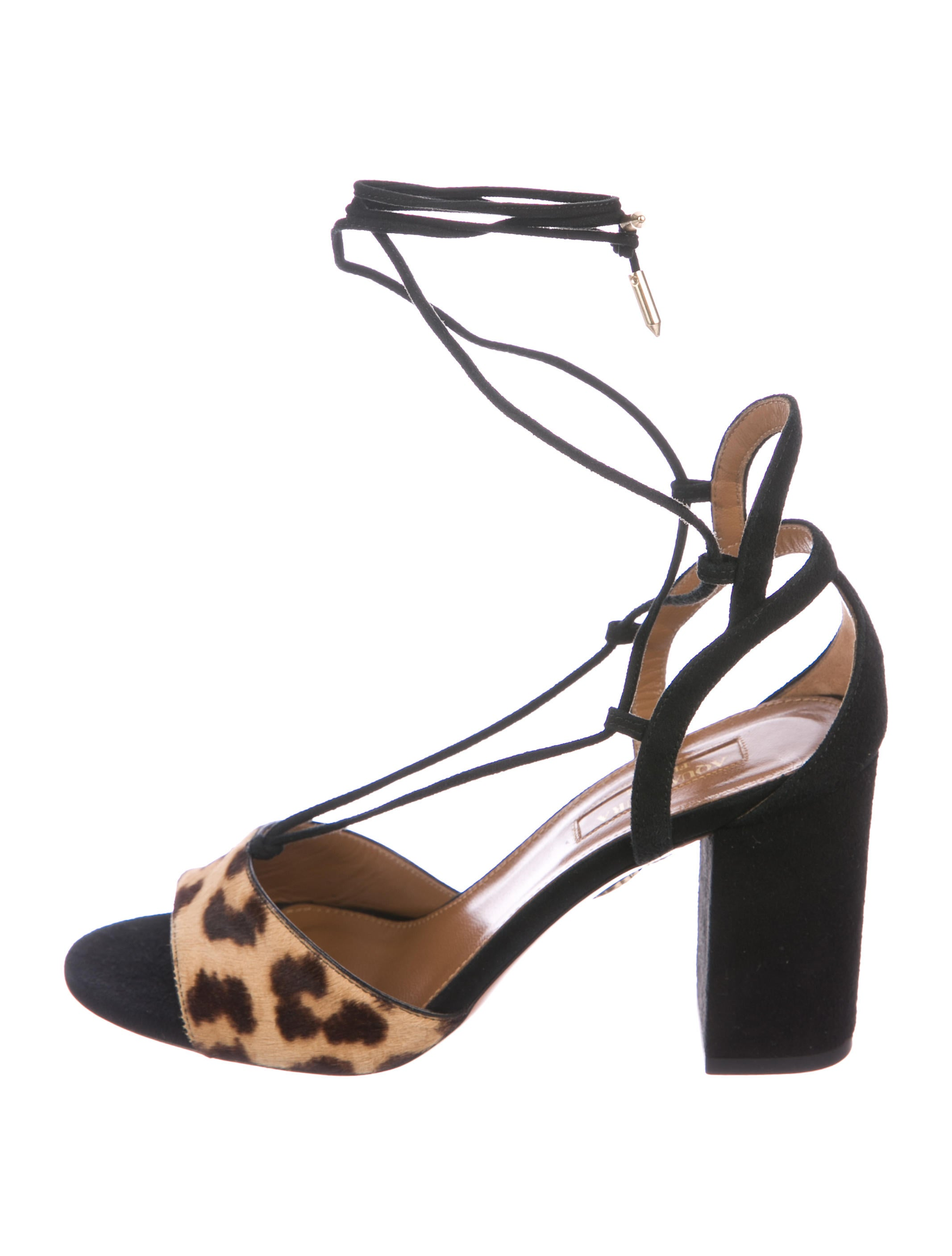 100% guaranteed sale online outlet locations Aquazzura Austin Lace-up Sandals w/ Tags release dates Xrm8Nnr